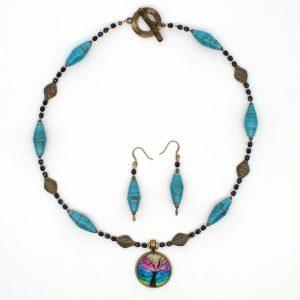 NE812b - Mystic Blues Necklace