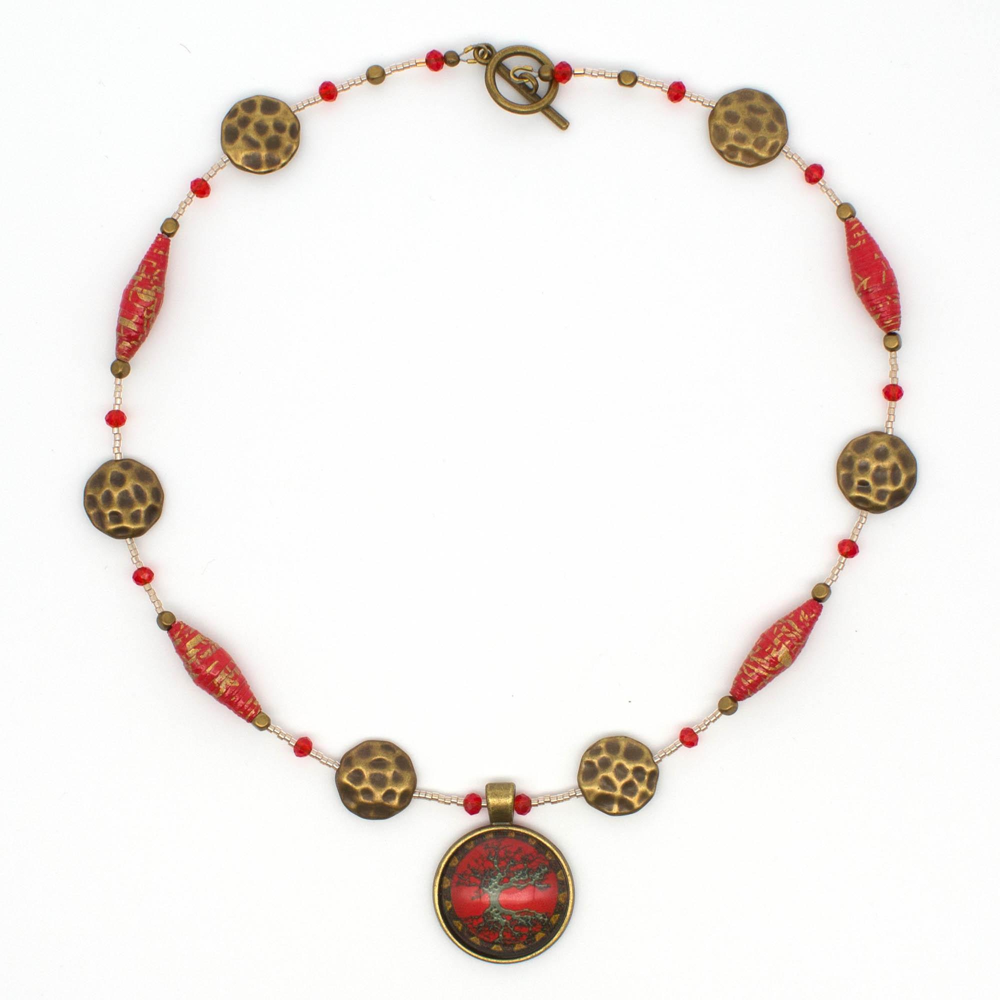 NE813a - Geisha Girl Necklace