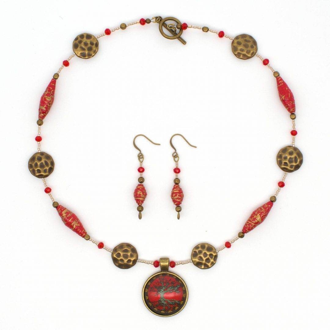 NE813b - Geisha Girl Necklace
