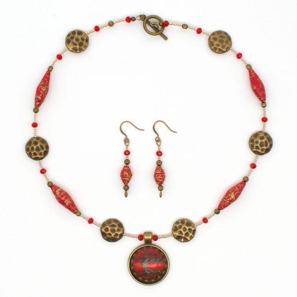 NE813b - Geisha Girl Necklace