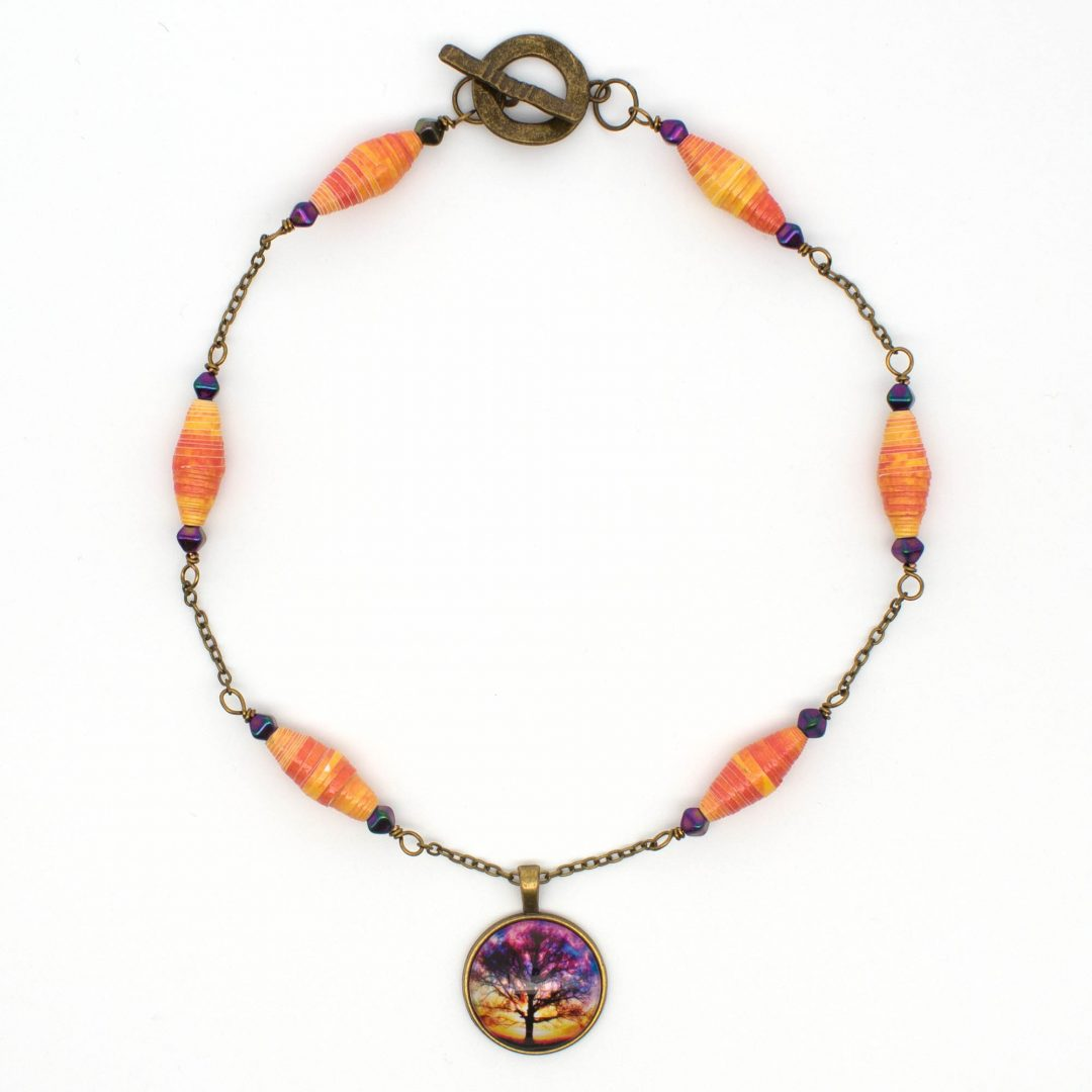 NE814a - Sunset Storm Necklace y