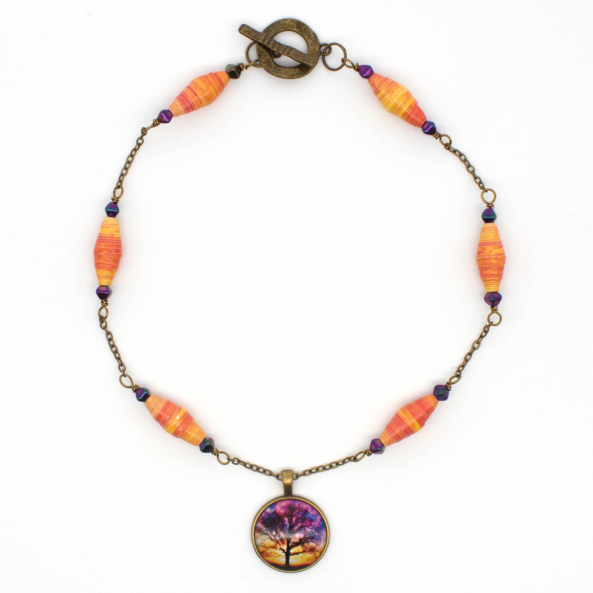 NE814a - Sunset Storm Necklace y