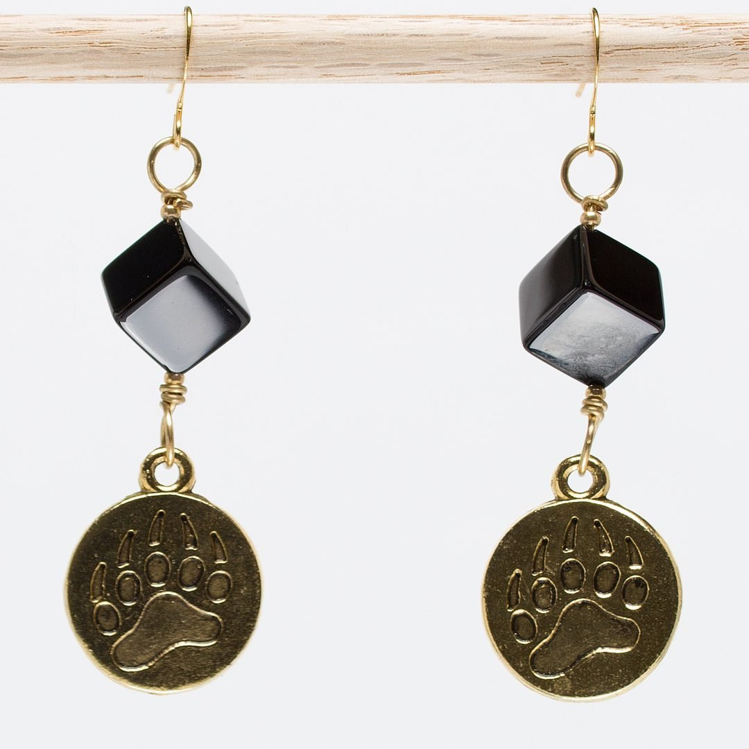 E416 - Black Beary Earrings
