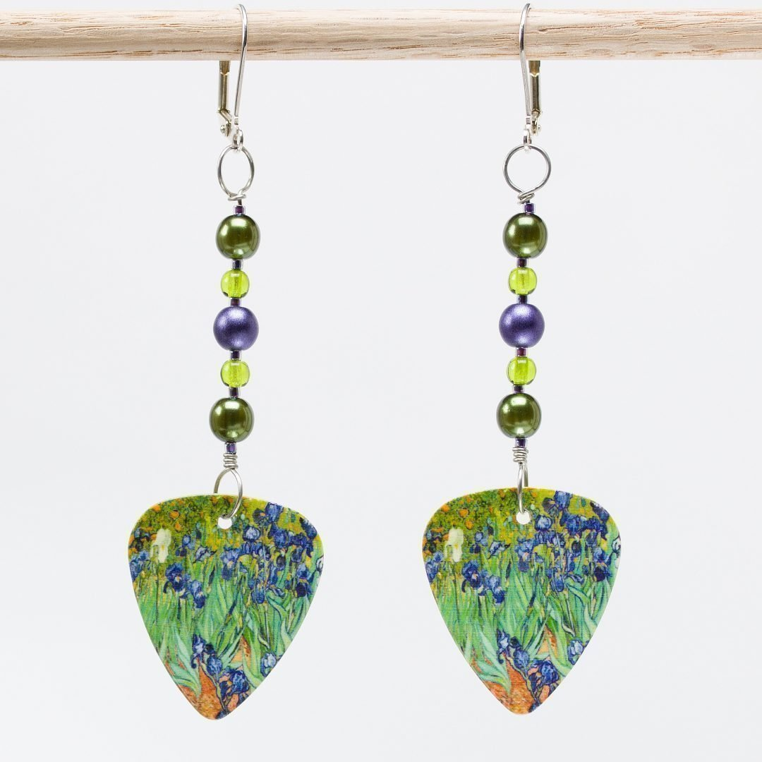 E608 - Irises Earrings