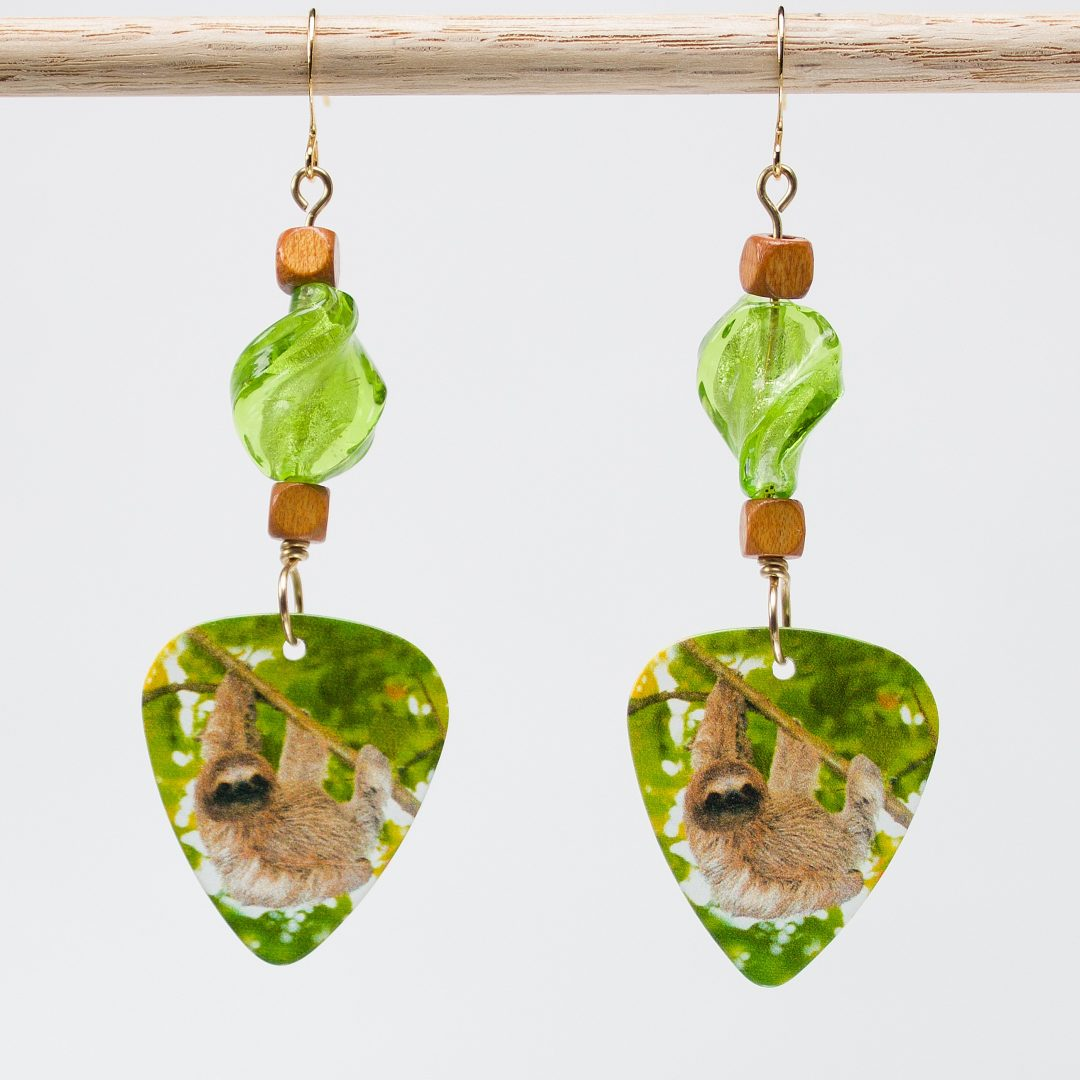 E703 - Verde Sloth Earrings