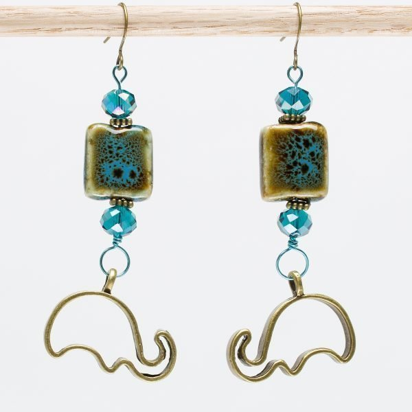 E713 - Aqua Ellies Earrings