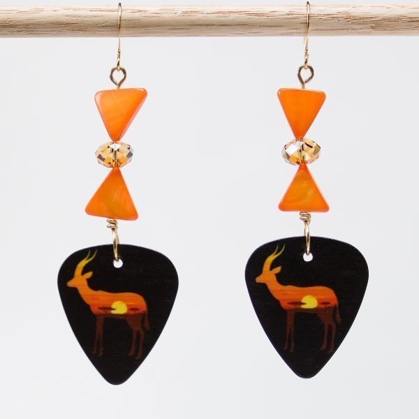 E722 - Sunset Gazelle Earrings