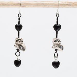 E731 - Rocky Raccoon Earrings