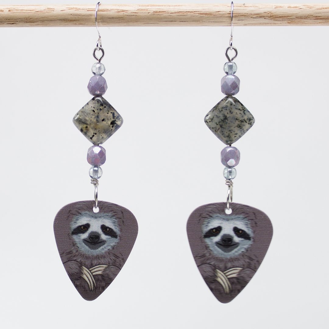 E735 - Yoda Sloth Earrings