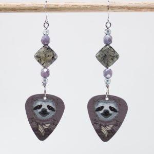 E735 - Yoda Sloth Earrings