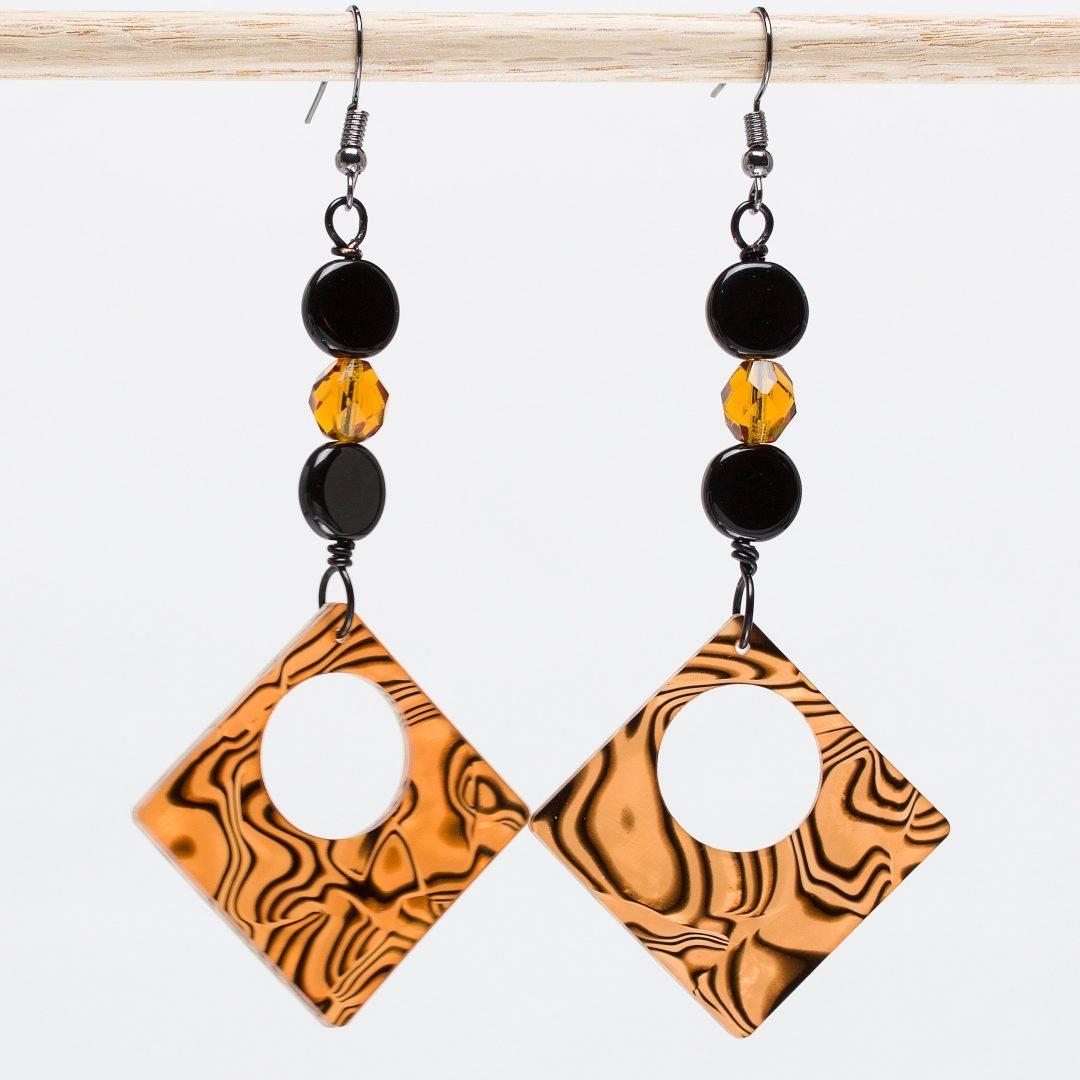 E740 - Tiger Squared Earrings