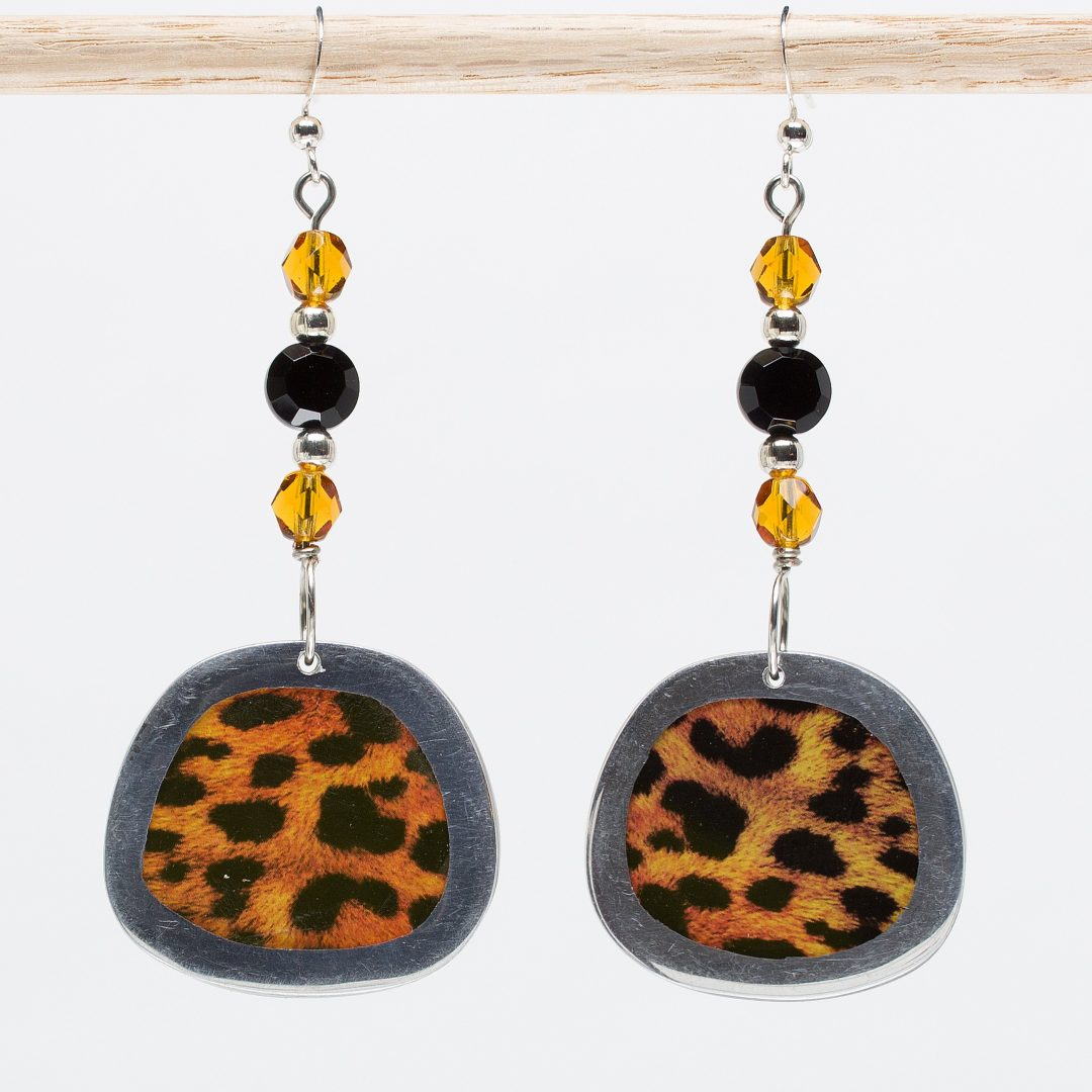 E776 - Cheetah Elegance Earrings