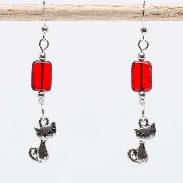 E855 - Ruby Meow Meow Earrings
