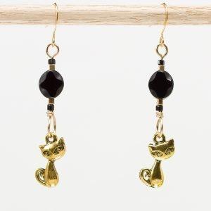 E869 - Black Kitteh Earrings