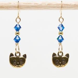 E874 - Capricious Kitteh Earrings