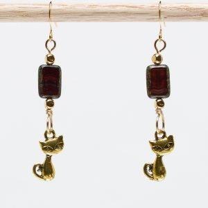 Peek-a-Kitteh Earrings