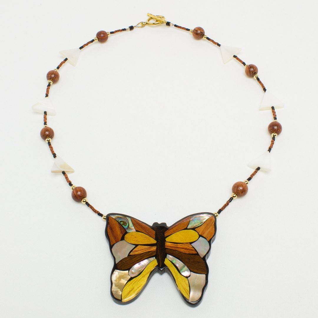 L802 - Mahogany Butterfly Necklace