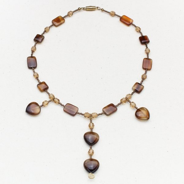N522 - Botsana Agate and Smoke Necklace