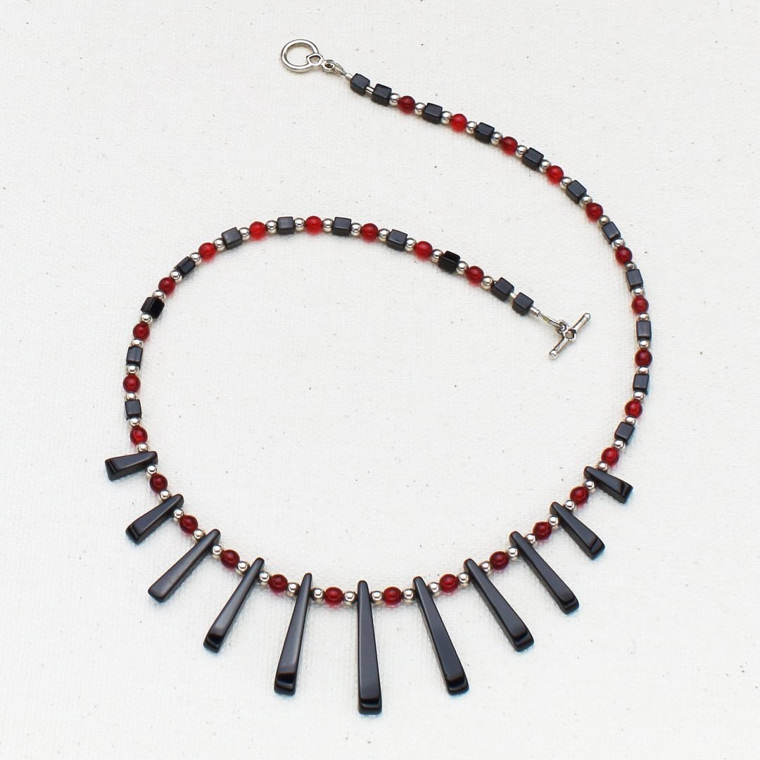 N582 - BlackJack Fanfare Necklace