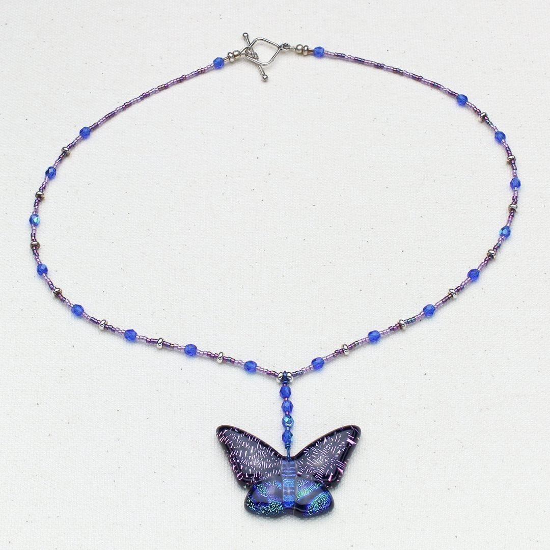 N611 - Midnight Butterfly Necklace