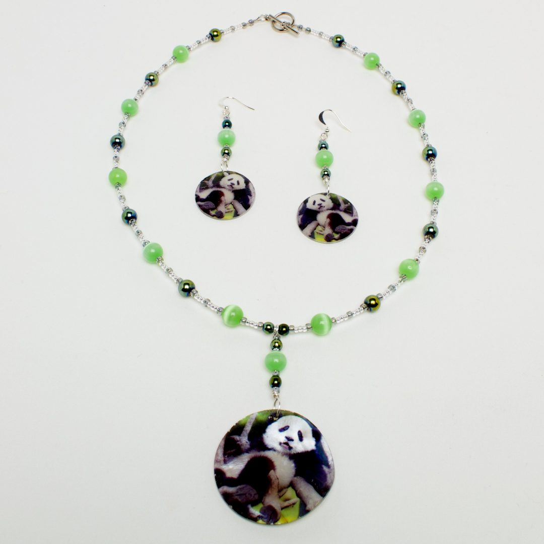 Bamboo Forest Necklace and Earring Set