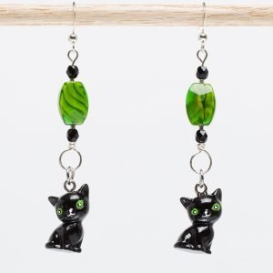 E717 - Verde Meow Meow Earrings