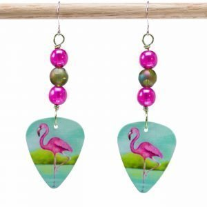 E720 - Dots a Flamingo Earrings