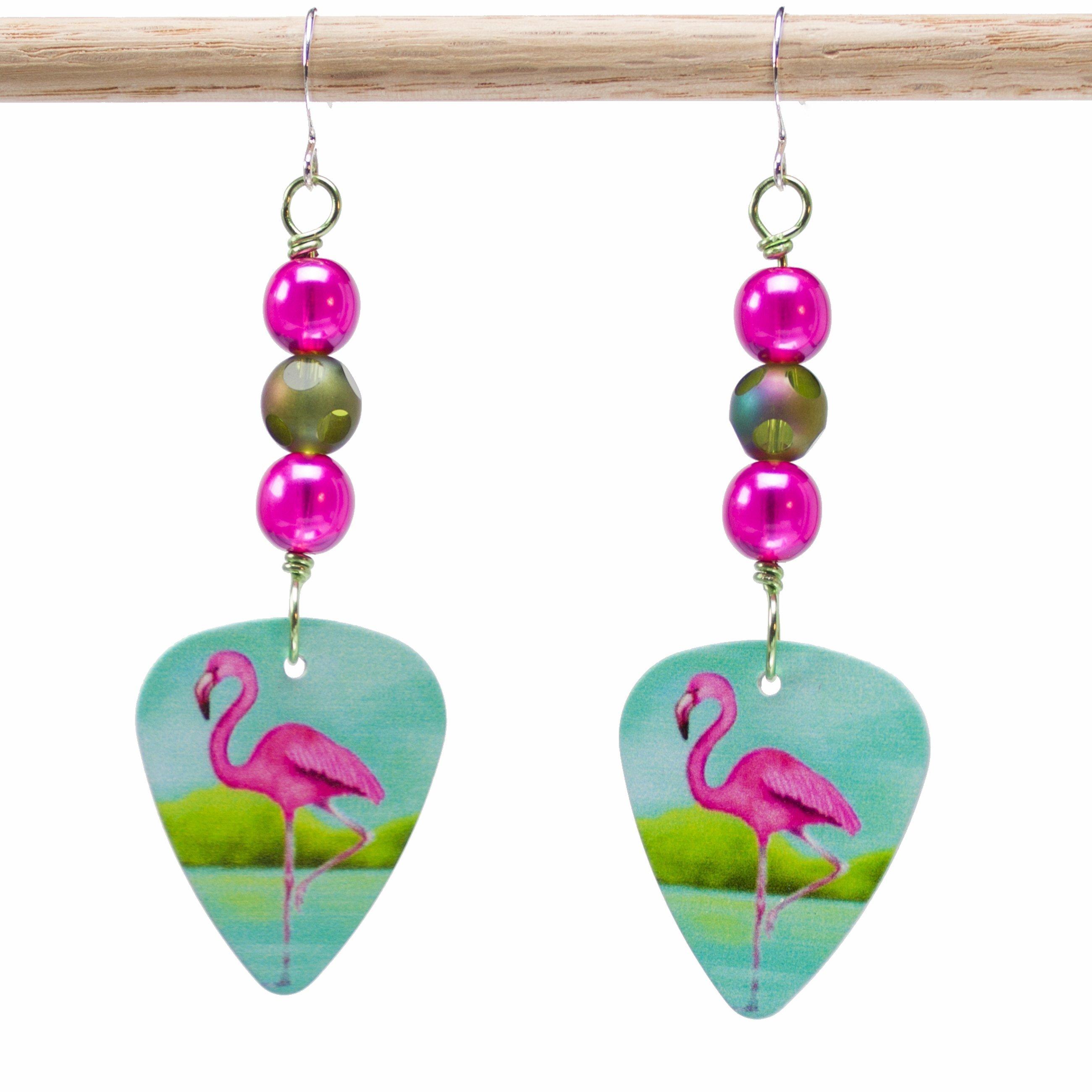 E720 - Dots a Flamingo Earrings