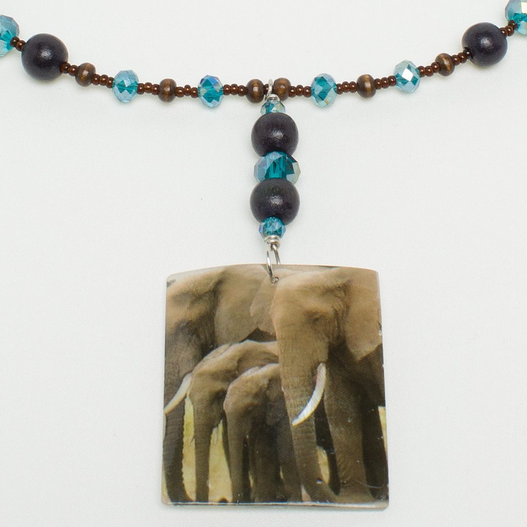 N769 - Wood & Sky Ellie Necklace
