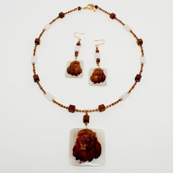 805 - The King Necklace and Earring Set
