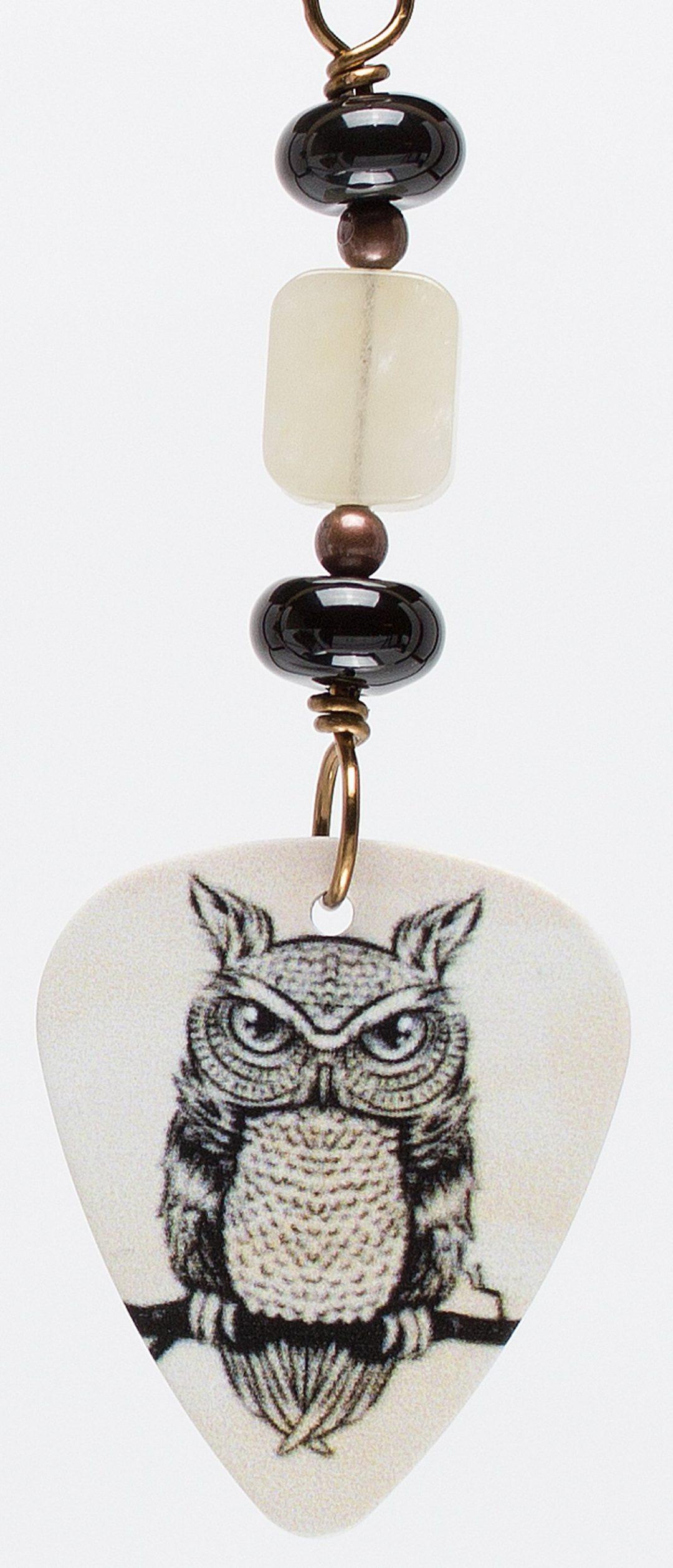 E709 - Owl Scowl I Earrings