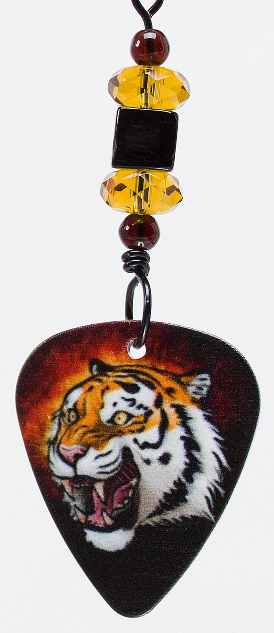 E759 - Tiger, Tiger in the Night Earrings