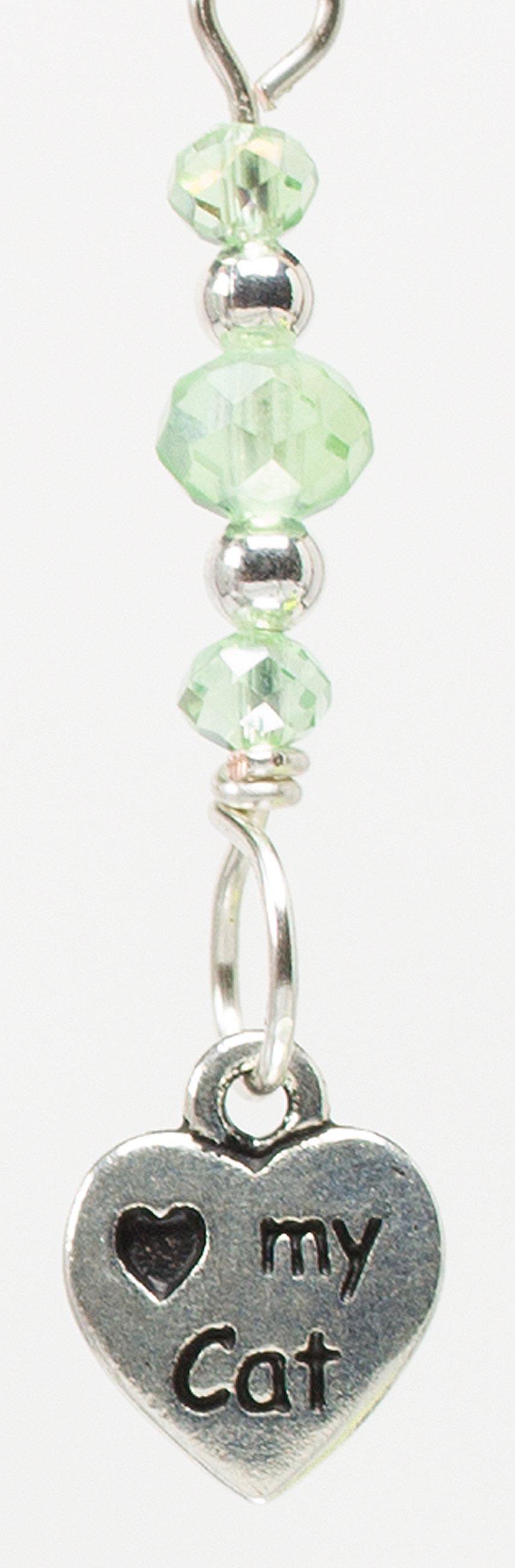 E891 - Peridot Kitteh Love Earrings