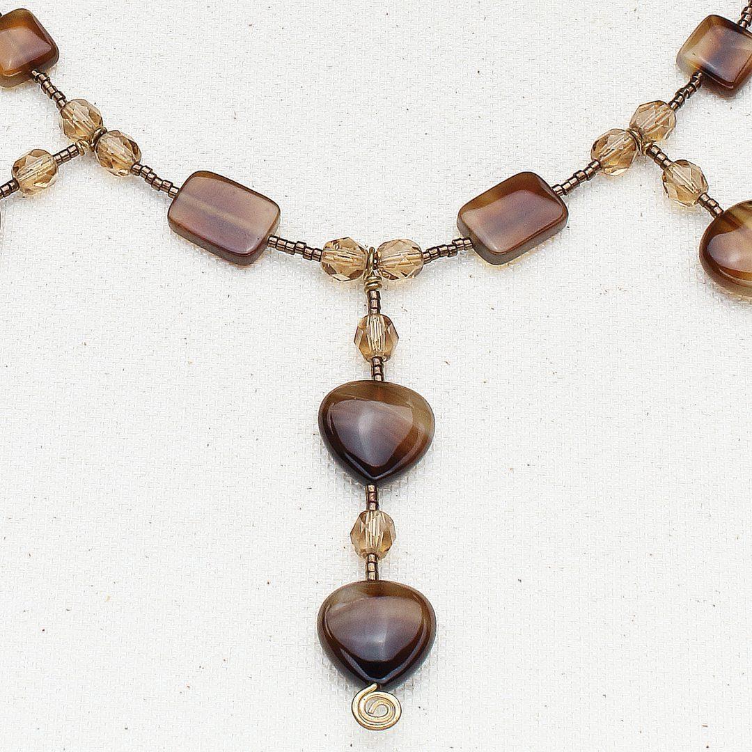 N522 - Botsana Agate and Smoke Necklace