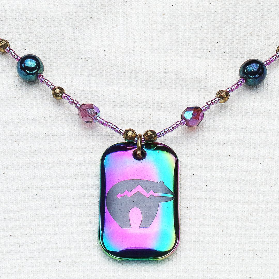 N576 - Rainbow Zuni Necklace
