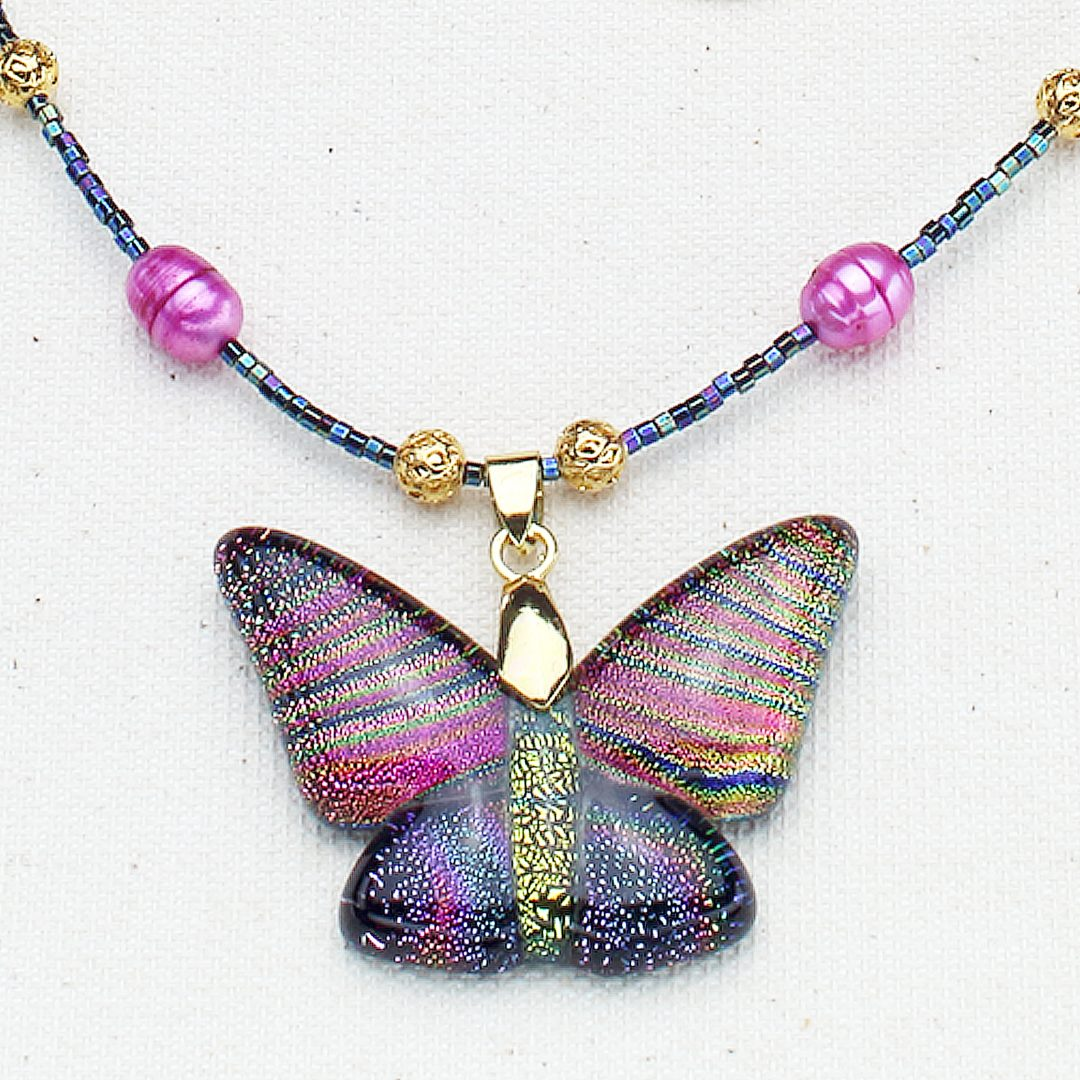 N634 - Golden Butterfly Necklace
